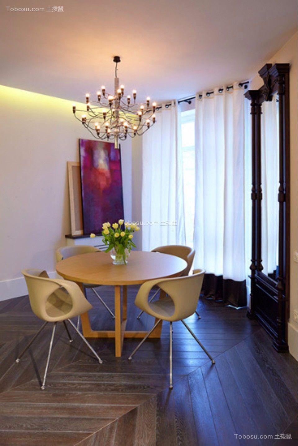 餐厅 餐桌_新嘉小区两室一厅79平现代简约装修效果图