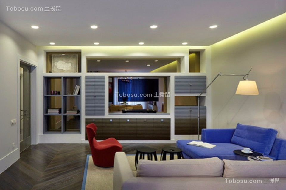 客厅 走廊_新嘉小区两室一厅79平现代简约装修效果图
