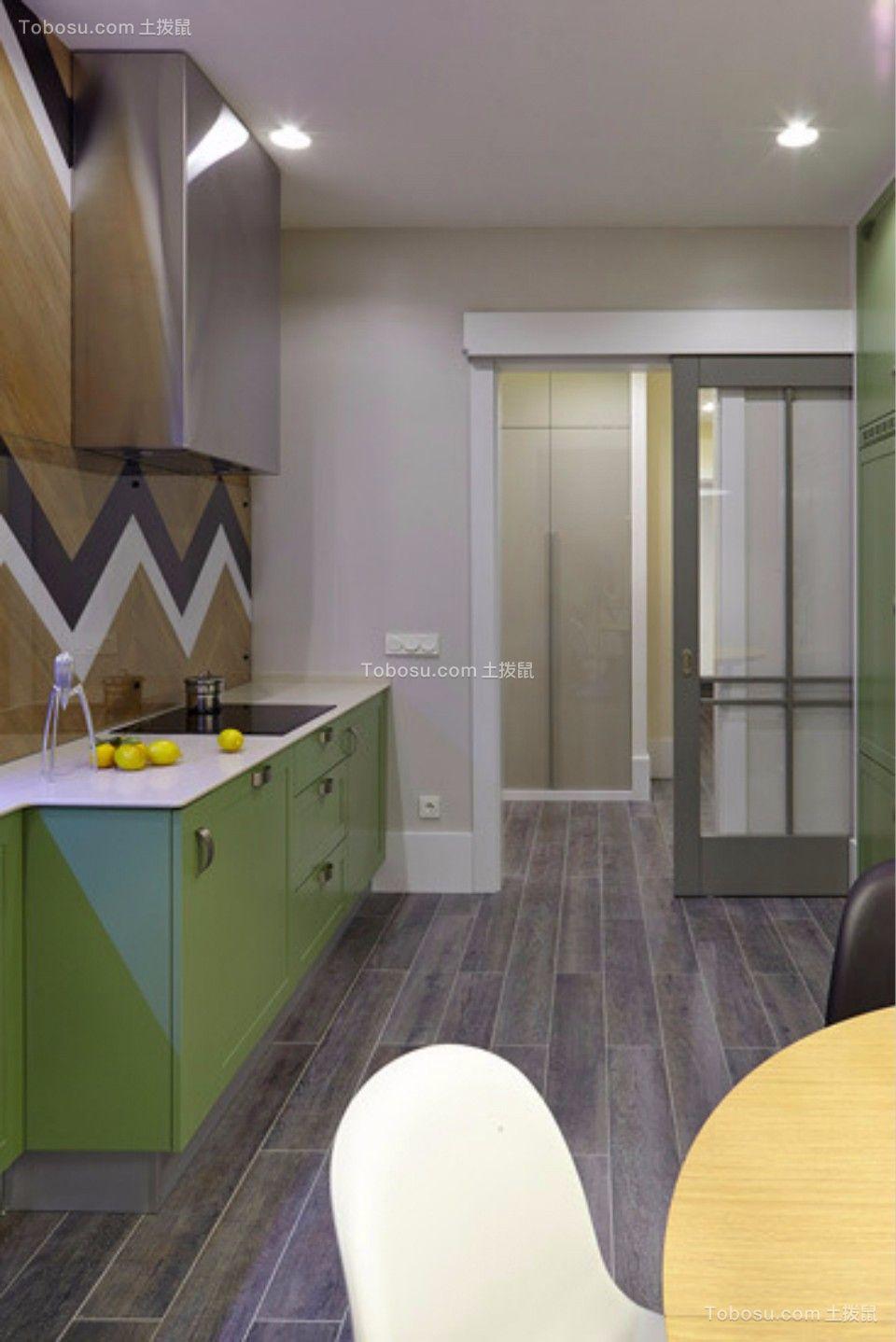 厨房 走廊_新嘉小区两室一厅79平现代简约装修效果图
