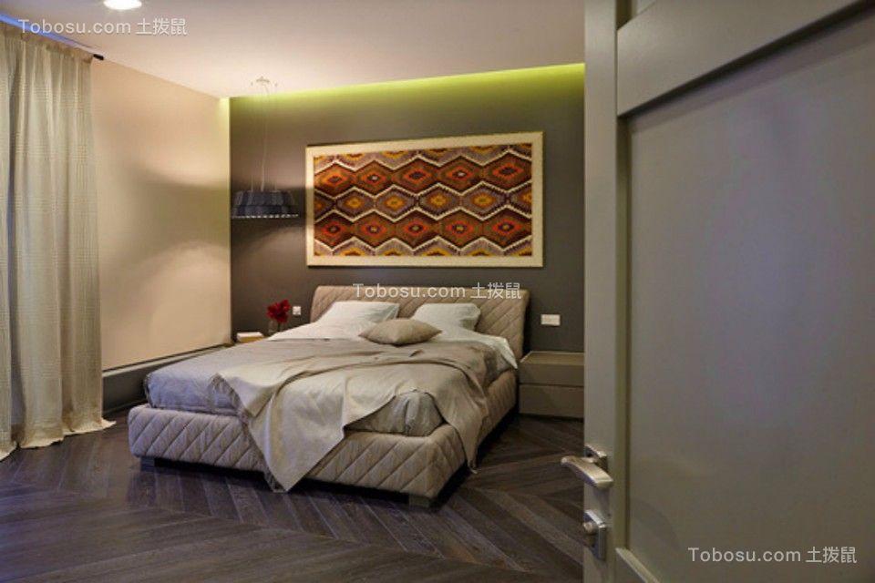 卧室 床_新嘉小区两室一厅79平现代简约装修效果图