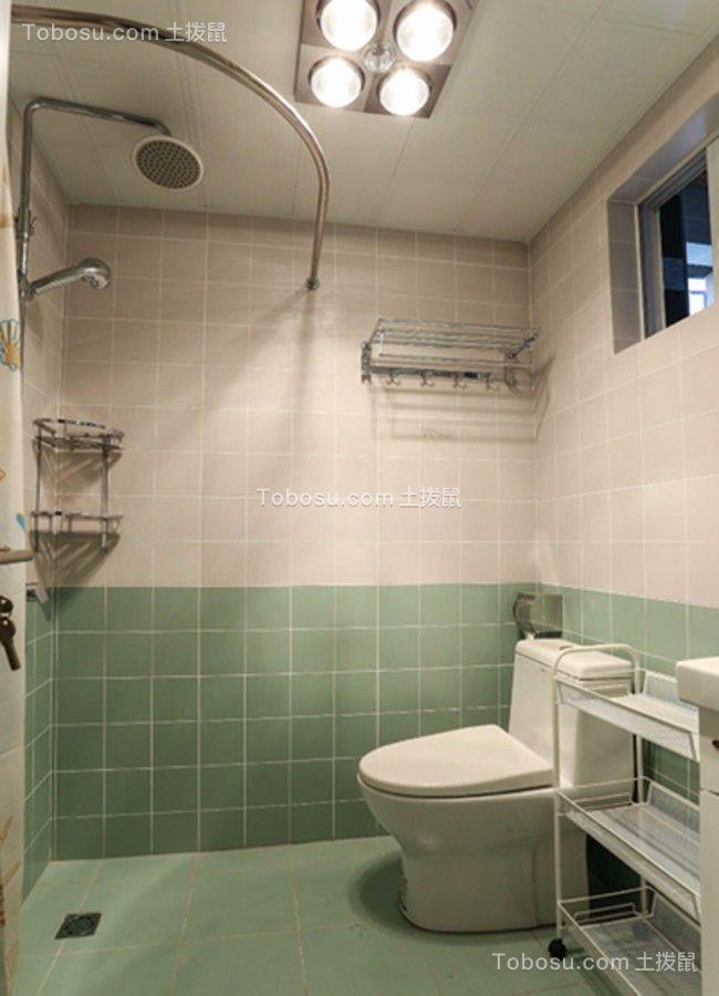 卫生间白色地砖北欧风格装饰效果图