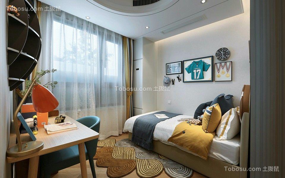 卧室彩色床简约风格装潢设计图片