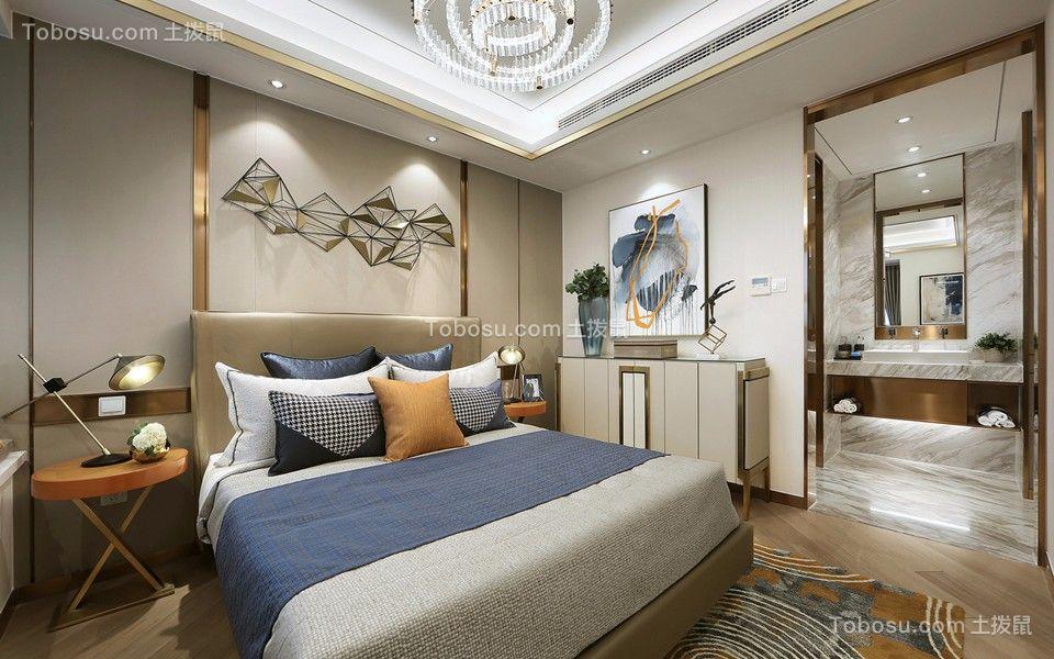 卧室彩色床简约风格效果图