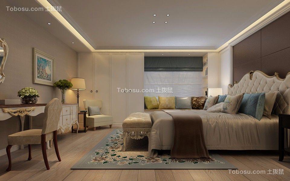 卧室白色梳妆台美式风格装修图片