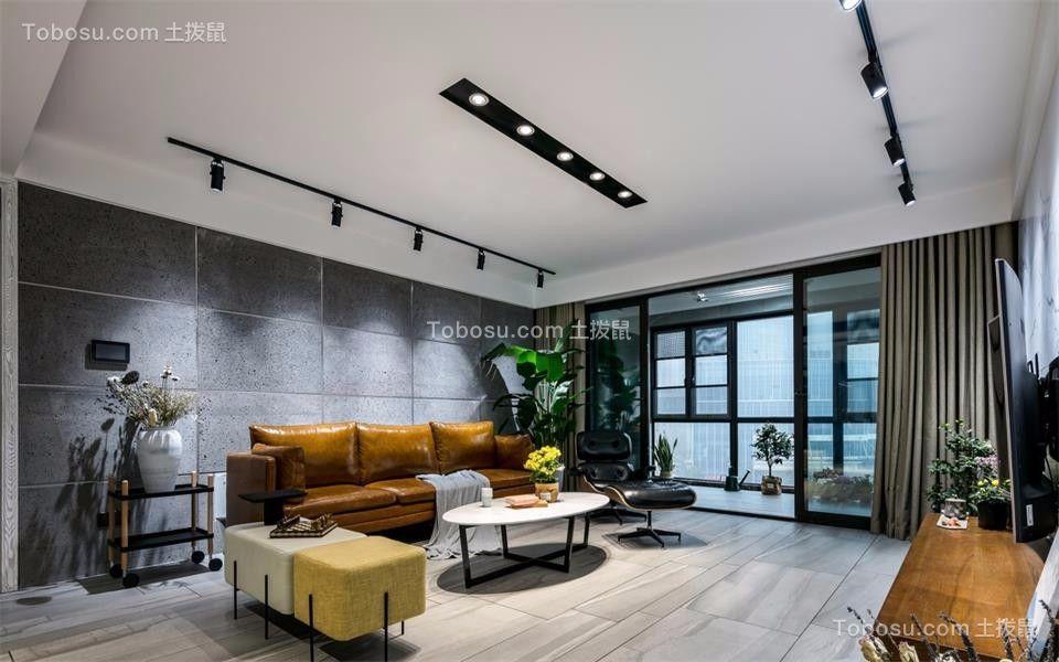 165㎡三室两厅北欧风格装修效果图
