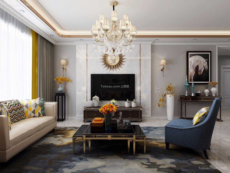 简欧风格95平米两室两厅新房装修效果图