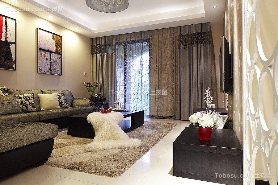 客厅白色地砖现代风格效果图