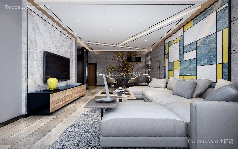 万达亲湖苑97m²三居室现代风格装修效果图