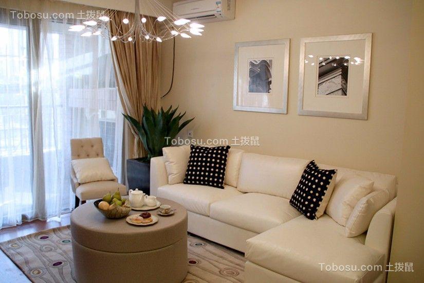 佳兆业现代风格94平三居室装修效果图
