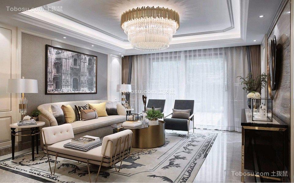 紫金西苑130平米欧式三居装修效果图