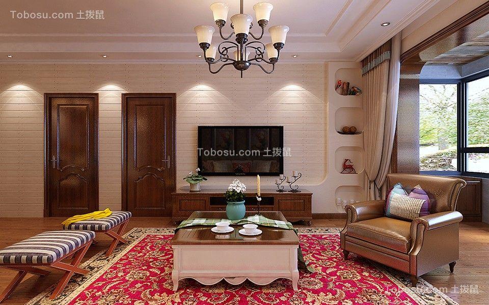 文兴苑145平米简美风格三居室装修效果图