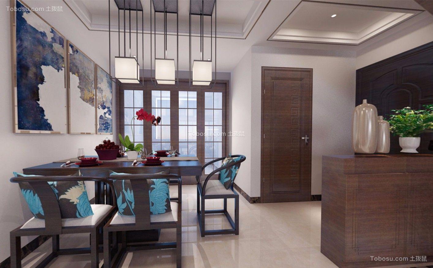 扬州秋南新寓240平米新中式风格效果图