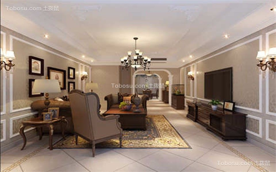 80~100m²/美式/二居室装修设计