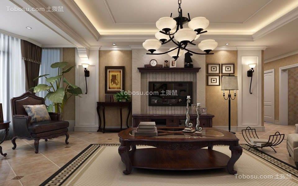 郑州亚星盛世138平米美式风格效果图