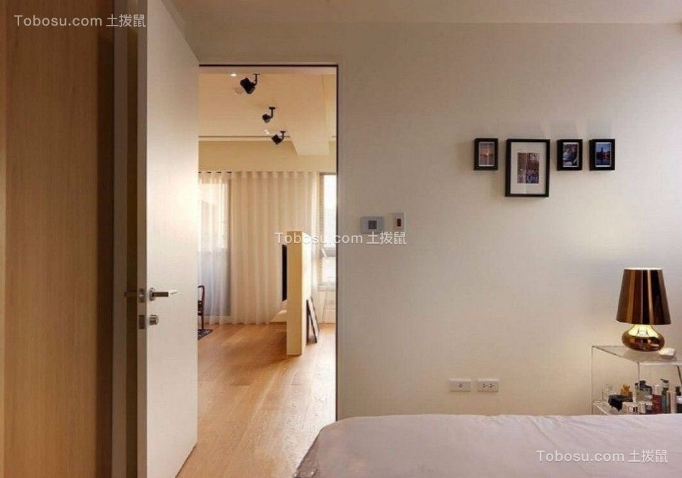 卧室咖啡色走廊现代简约风格装潢图片