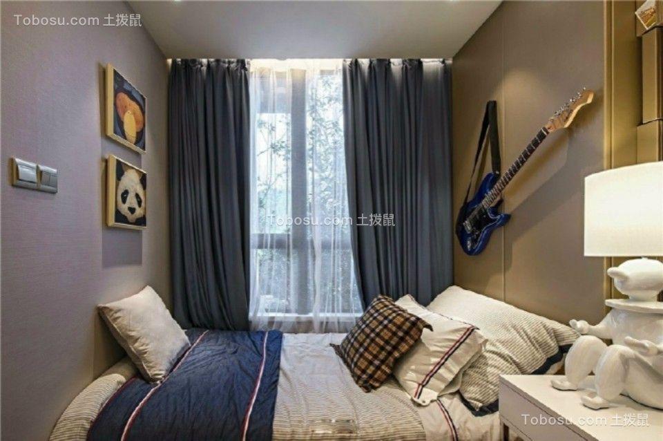 卧室 落地窗_融侨悦府89平现代简约2室2厅装修效果图