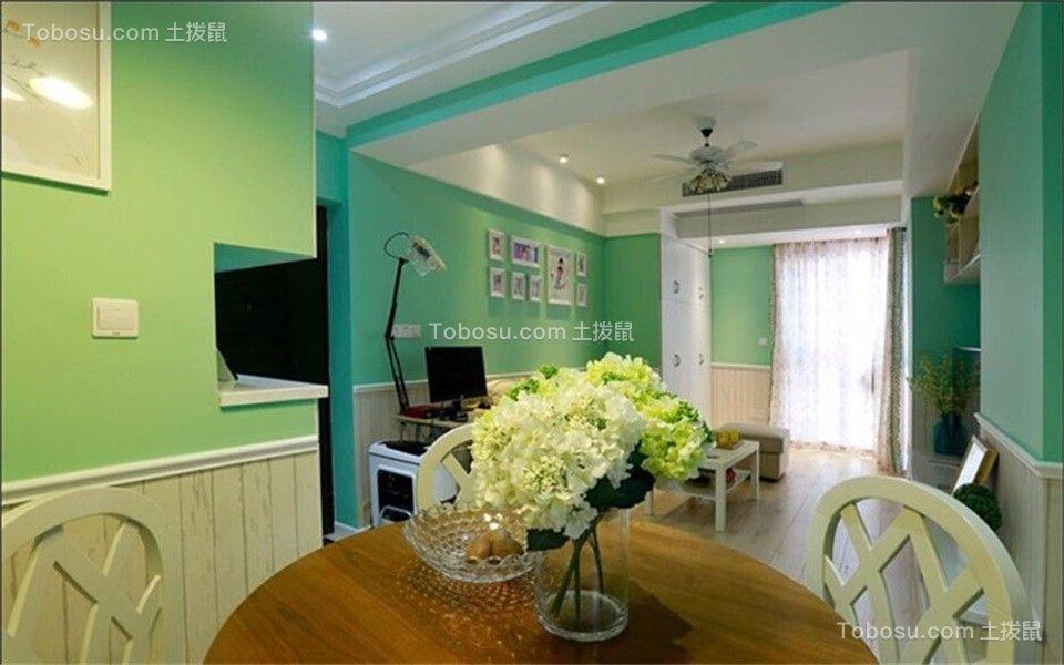 56平田园风格一居室装修效果图