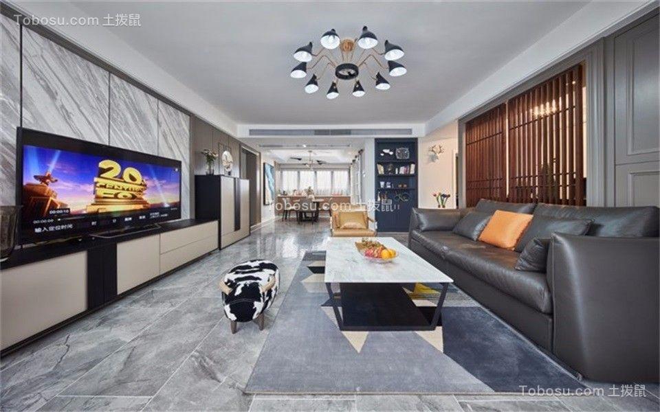 106平现代风格三居室装修效果图