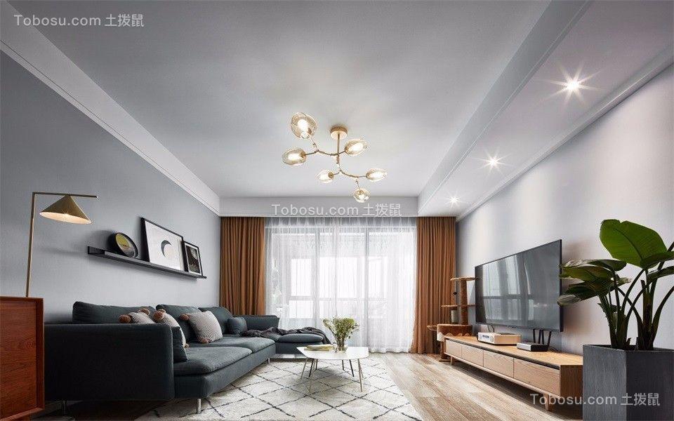 130平美式风格四居室装修效果图