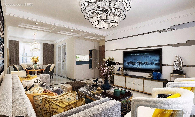 现代简约92平两居室装修效果图