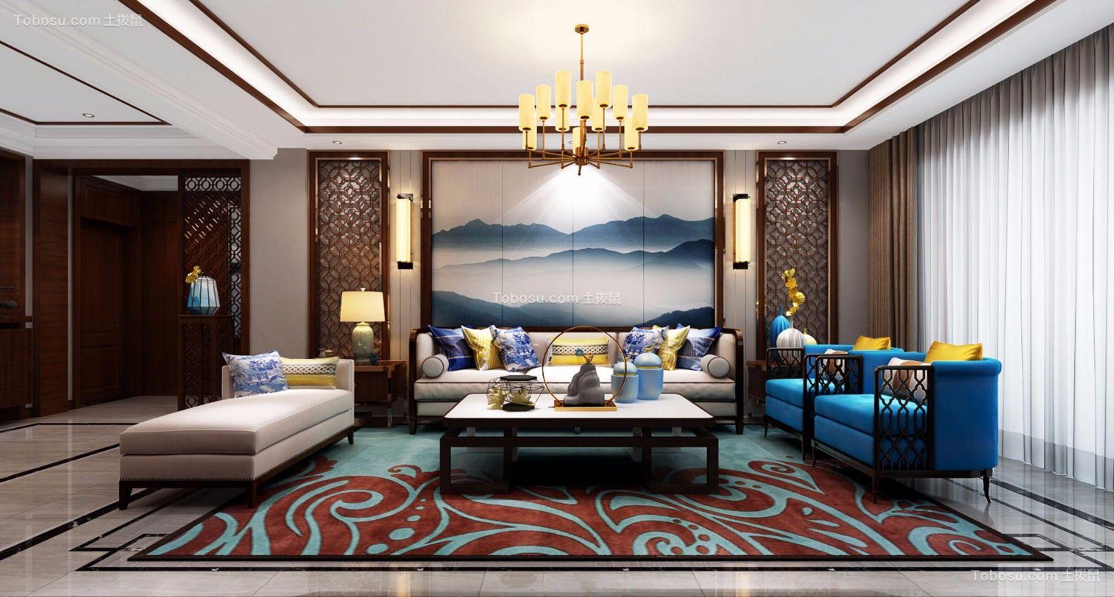 新中式150平4居室装修效果图