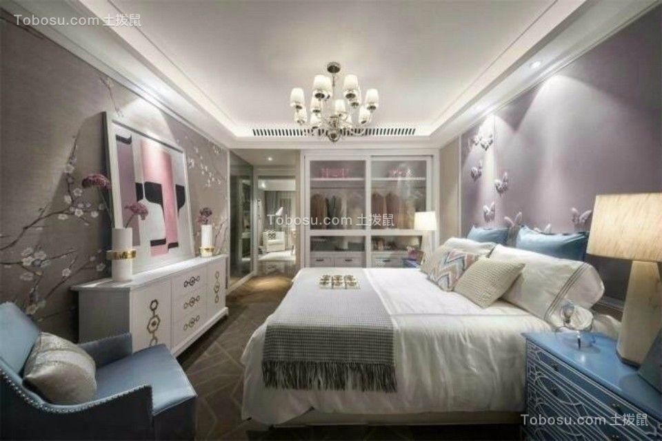 卧室白色电视柜欧式风格装潢设计图片