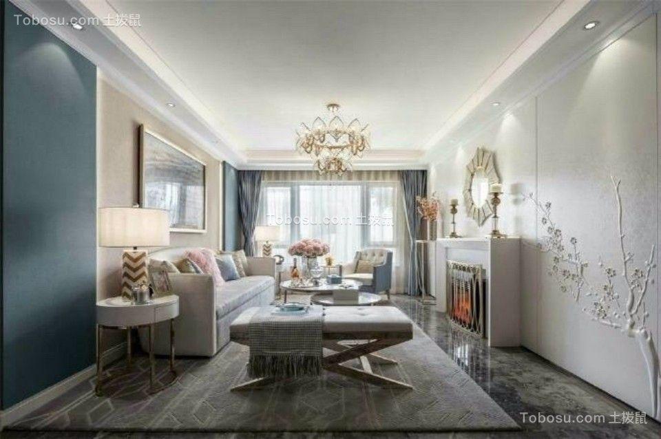 客厅白色吊顶欧式风格效果图