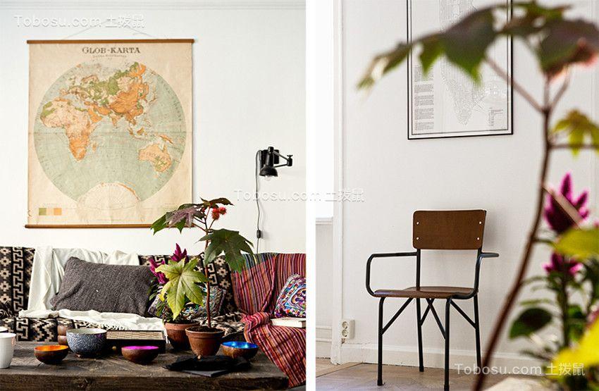 客厅灰色沙发简约风格装修设计图片