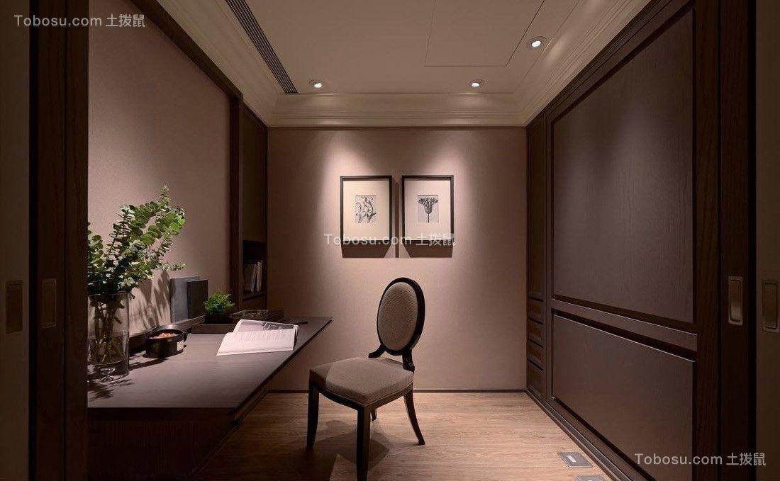 书房彩色书桌新古典风格装修图片