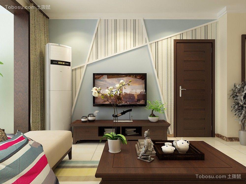 宏瑞星城90平现代简约二居室装修效果图