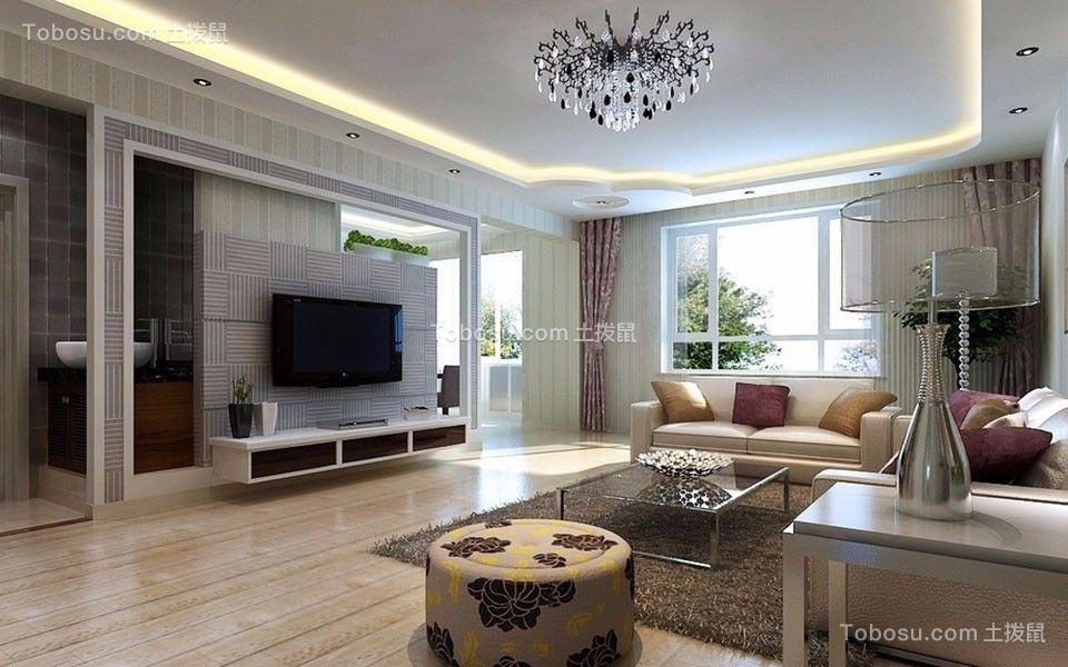 130平现代风格三居装修效果图