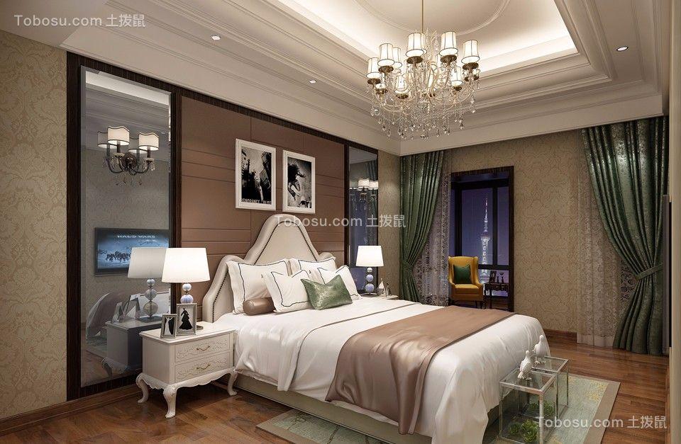 卧室米色吊顶现代欧式风格装修图片