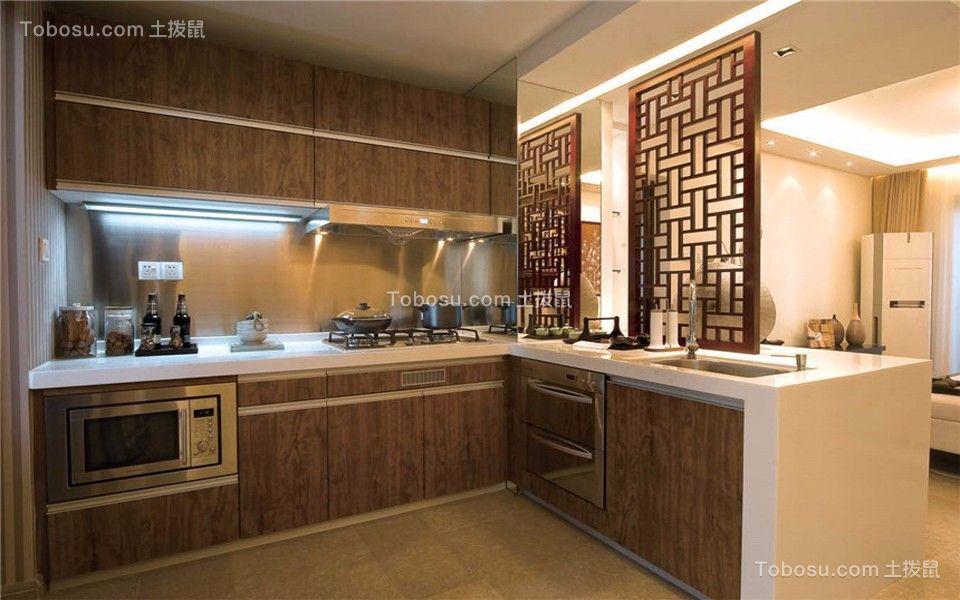 厨房 橱柜_中式风格95平米两室两厅新房装修效果图