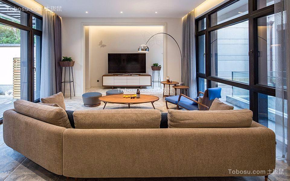 新中式风格500平米别墅室内装修效果图