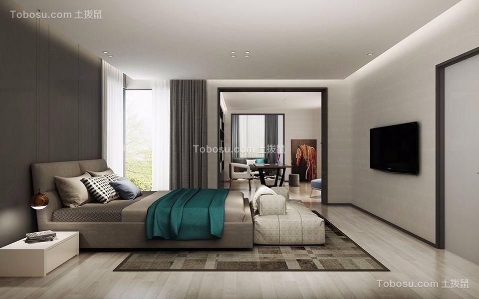 卧室灰色床现代风格效果图
