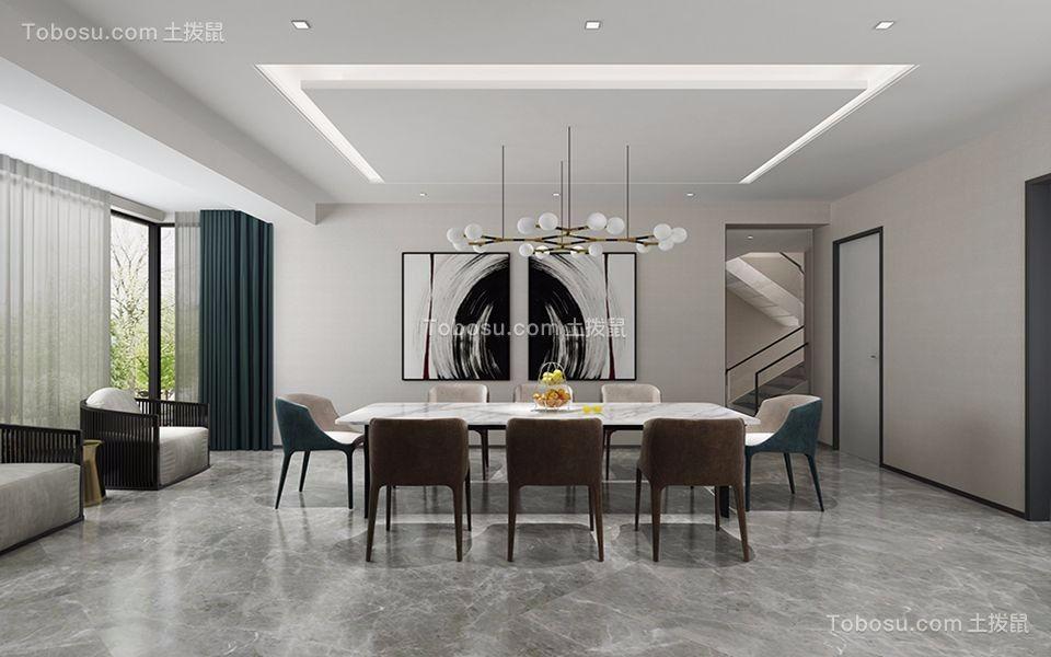 餐厅灰色地砖现代风格装修效果图