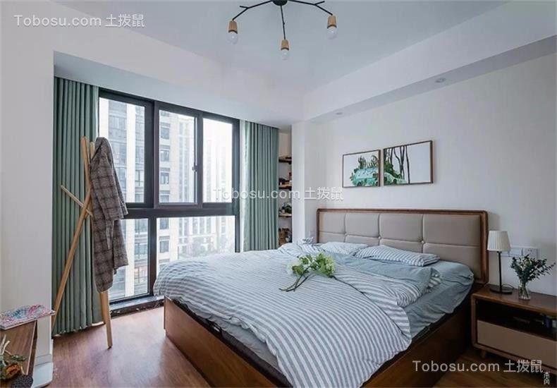 卧室灰色床现代简约风格装潢效果图