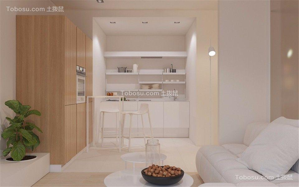 现代简约风格53平米两室一厅新房装修效果图