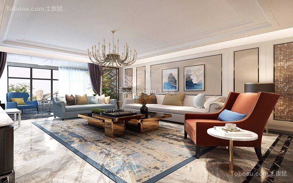 美式风格230平米复式新房装修效果图