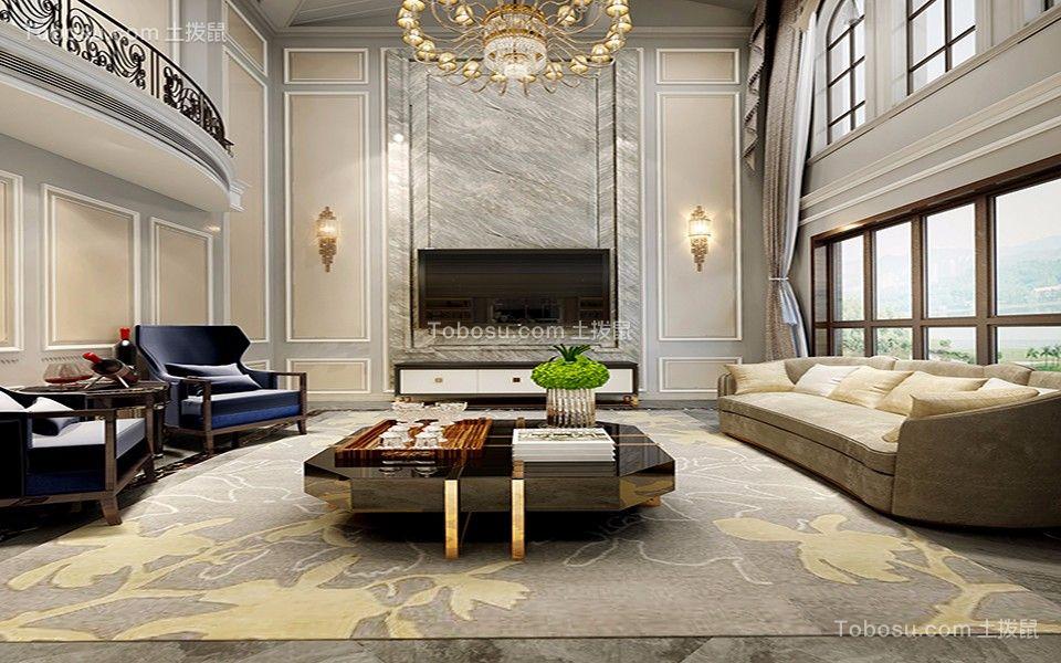 美式风格260平米复式房子装饰效果图