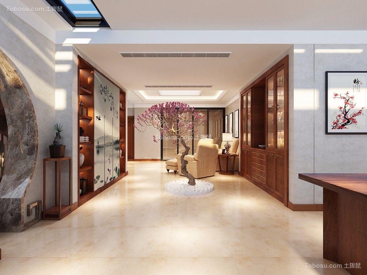 客厅米色地板砖混搭风格装潢图片
