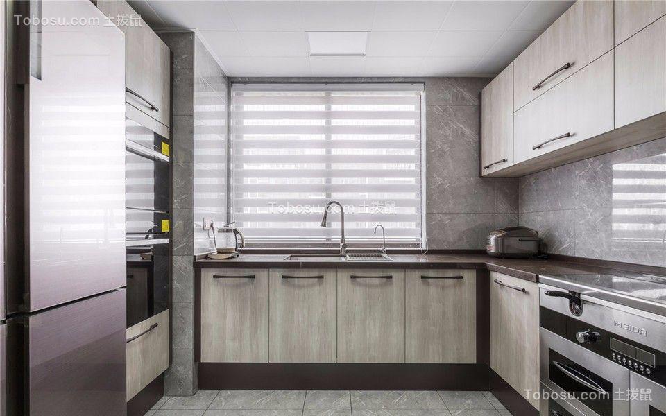 厨房白色窗台现代简约风格装潢设计图片