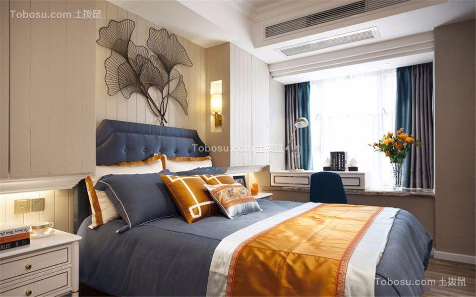 卧室灰色窗帘混搭风格装饰图片