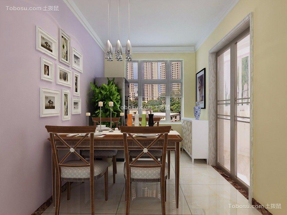 餐厅白色餐桌现代简约风格效果图