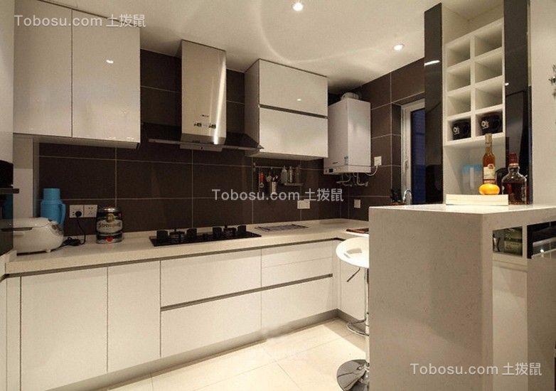 厨房白色厨房岛台现代风格装饰图片