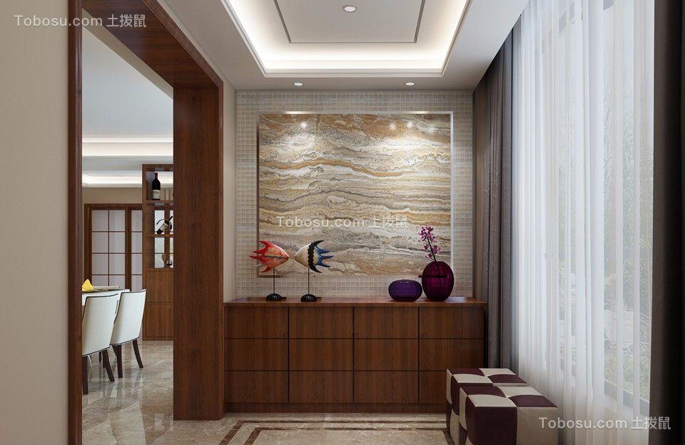 玄关咖啡色照片墙现代简约风格装修效果图