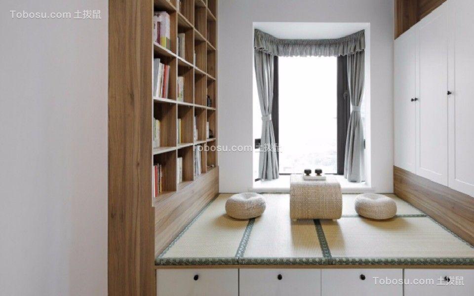 书房白色榻榻米北欧风格装饰设计图片