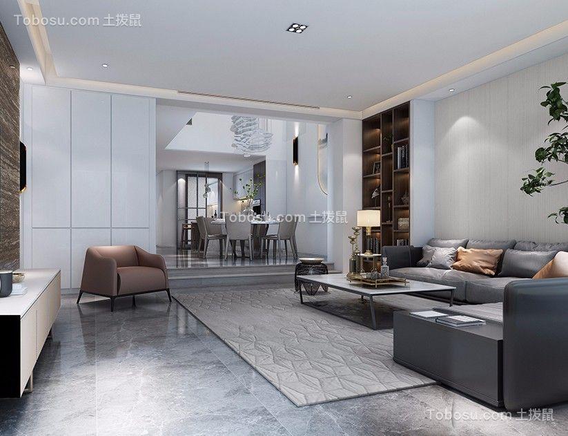 客厅灰色沙发简约风格装饰效果图