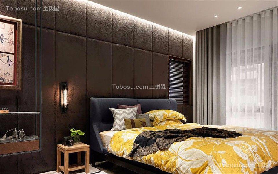 卧室灰色窗帘混搭风格装修设计图片