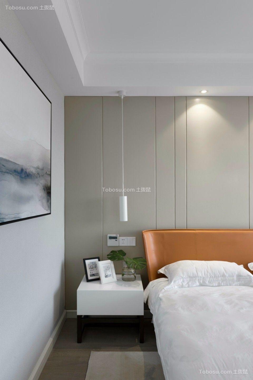 卧室白色床头柜现代简约风格效果图
